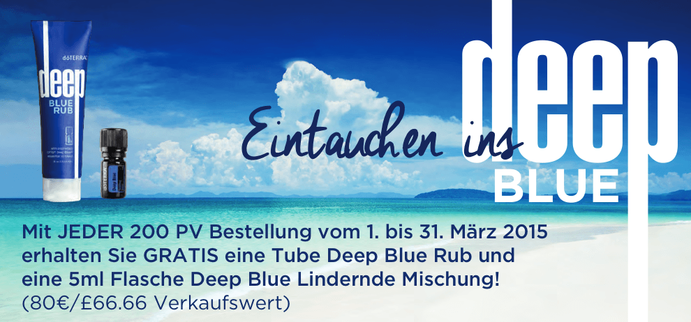 Doterra Deep Blue Angebot