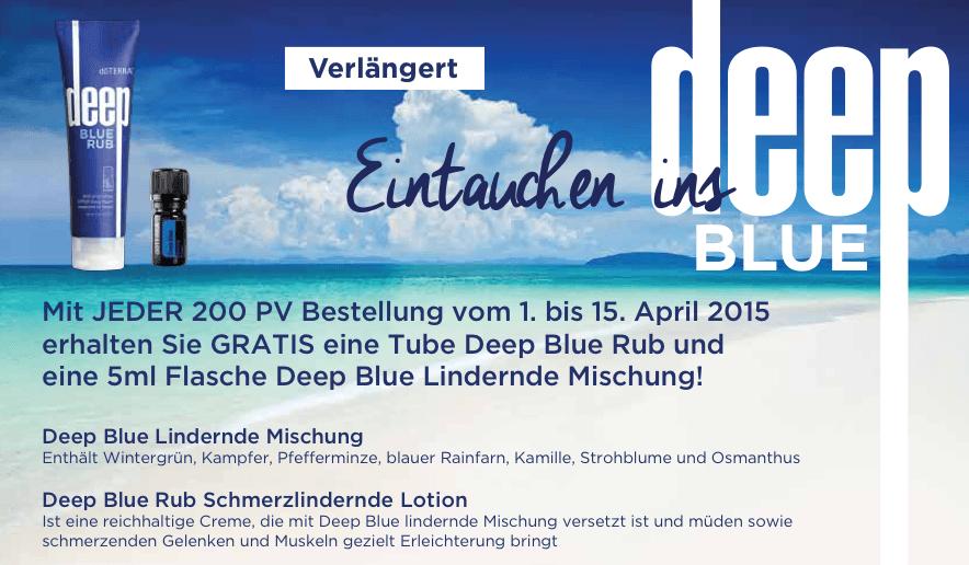 Deep Blue Angebot April 2015